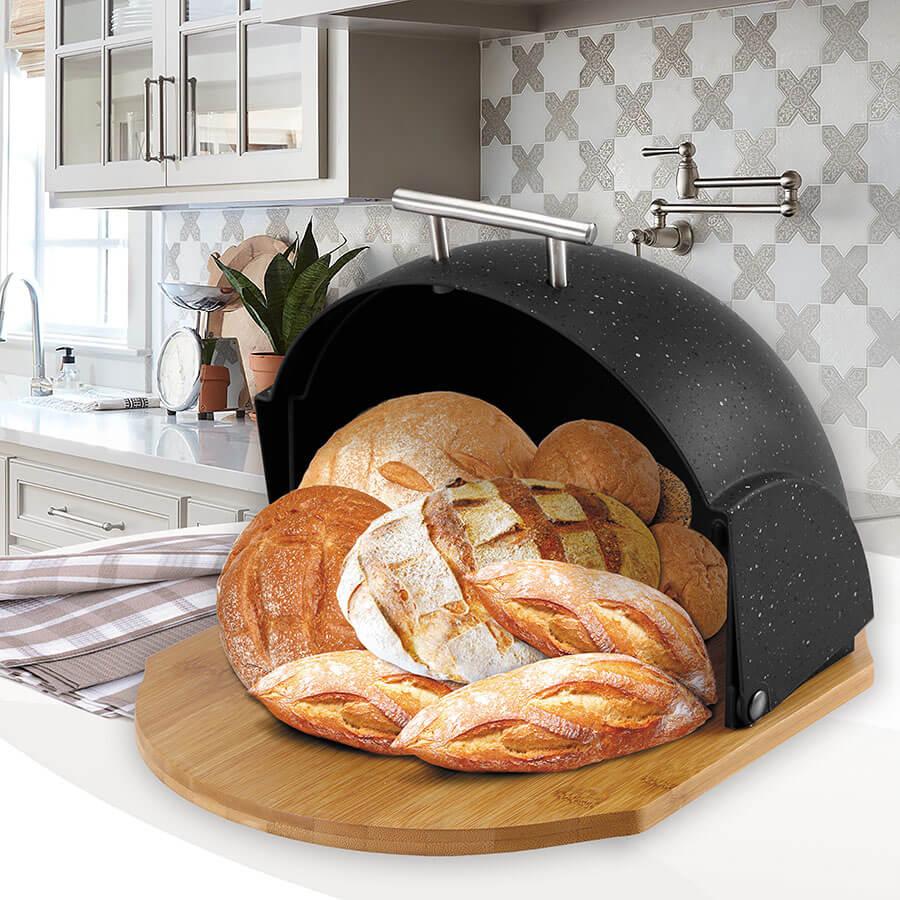 Хлібниця MR-1678G-BLACK
